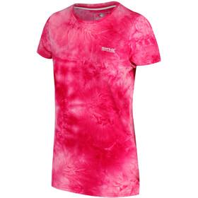 Regatta Fingal IV Camiseta Manga Corta Mujer, neon pink tie-dye